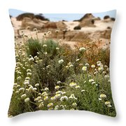 Wildflowers At Mungo National Park Throw Pillow