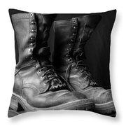 Wildland Fire Boots Still Life Throw Pillow