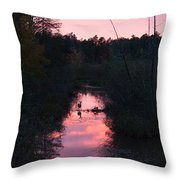 Wildlife Sunset Throw Pillow
