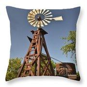 Wildseed Farms Windmill Throw Pillow