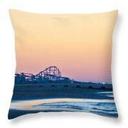 Wildwood Beach Panorama Throw Pillow