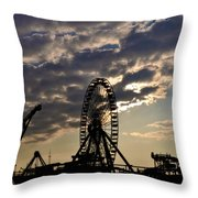 Wildwood Rides Throw Pillow