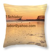 Wildwood Sunset Throw Pillow by Eric  Schiabor