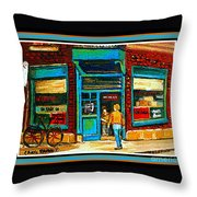 Wilenskys Art Famous Blue Door Posters Prints Cards Originals Commission Montreal Painting Cspandau  Throw Pillow