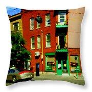 Wilenskys Famous Light Lunch Diner Corner Clark And Fairmount Montreal City Scene Carole Spandau Throw Pillow