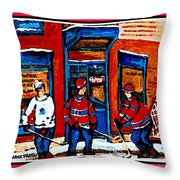 Wilenskys Hockey Art Posters Prints Cards Originals Commission Montreal Paintings Contact C Spandau Throw Pillow