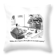 Wilkins, This Is Cosgrove.  All Our Offices Throw Pillow