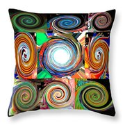 Will It Go 'round In Circles Throw Pillow