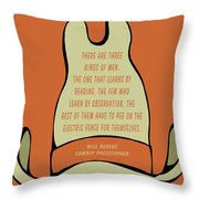 Will Rogers Cowboy Hat Throw Pillow