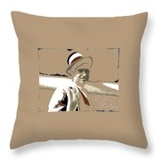 Will Rogers Informal Portrait Unknown Photographer Or Location 1924-2014  Throw Pillow