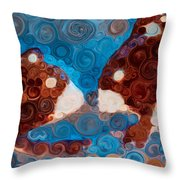 Will You Be My Beaver Throw Pillow