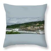 Willamette Falls River Scene  Throw Pillow