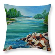 Willamette River 1.2 Throw Pillow