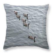 Willamette River Ducks Throw Pillow