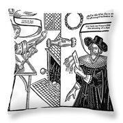 William Abell (c1584-1655) Throw Pillow