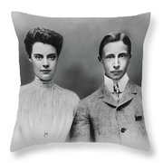 William And Cecilie, C1905 Throw Pillow