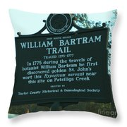 William Bartram Throw Pillow