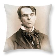 William Butler Yeats (1865-1939) Throw Pillow