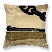 William G Mather In Sepia Throw Pillow