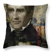 William Henry Harrison Throw Pillow