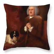 William Lowndes - A Auditor Of His Majesty's Court Of Exchequer  Throw Pillow
