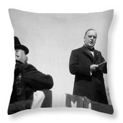 William Mckinley Making His Inaugural Address Throw Pillow by War Is Hell Store
