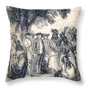 William Penns Treaty With The Indians Throw Pillow