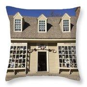 William Pitt Shop Williamsburg Virginia Throw Pillow