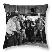 William S. Hart (1870-1946) Throw Pillow