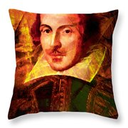 William Shakespeare 20140122 Throw Pillow