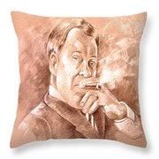 William Shatner As Denny Crane In Boston Legal Throw Pillow