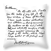 William Wilkie Collins (1824-1889) Throw Pillow