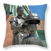 Williams And The Boy Throw Pillow by Barbara McDevitt
