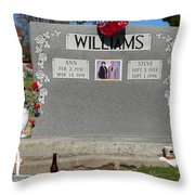 Williams Grave Throw Pillow