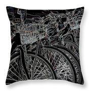 Williamsburg Bikes Throw Pillow