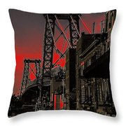 Williamsburg Bridge Abstract Throw Pillow