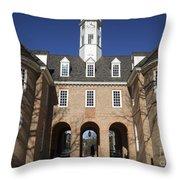 Williamsburg Capitol Throw Pillow