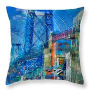 Williamsburg Street Abstract Throw Pillow