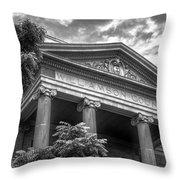 Williamson County Courthouse Bw Throw Pillow