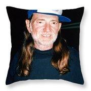 Willie Nelson 1988 Throw Pillow