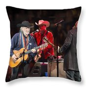 Willie Nelson - Live In Austin Throw Pillow