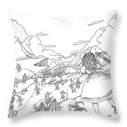 Willima Tell Freedom Fighter Throw Pillow