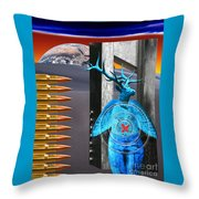 Willing Target Shot From The Inside Out Throw Pillow