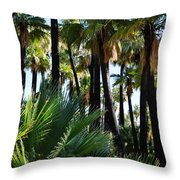Willis Palm Oasis Throw Pillow
