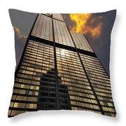 Willis Sears Tower Throw Pillow