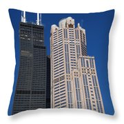 Willis Tower Chicago Throw Pillow