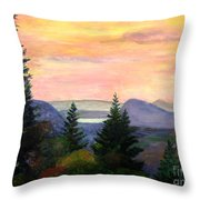 Willoughby Gap From Burke Mountain Throw Pillow