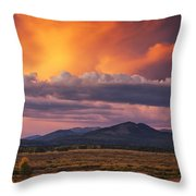 Willow Flats Sunset Throw Pillow