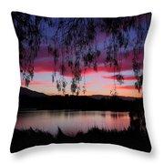 Willow Silhouette Throw Pillow