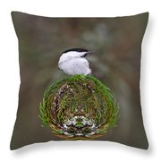 Willow Tits Planet Throw Pillow